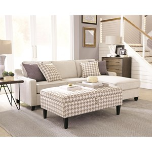 Scott Living Montgomery Chaise Sofa and Ottoman