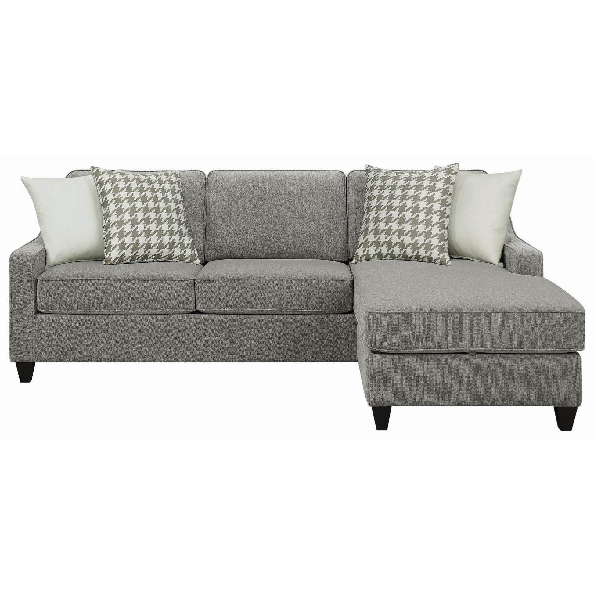 Sectional Sofa Couch Reversible Chaise Ottoman Furniture: Scott Living Montgomery 501697 Modern Sectional Sofa With