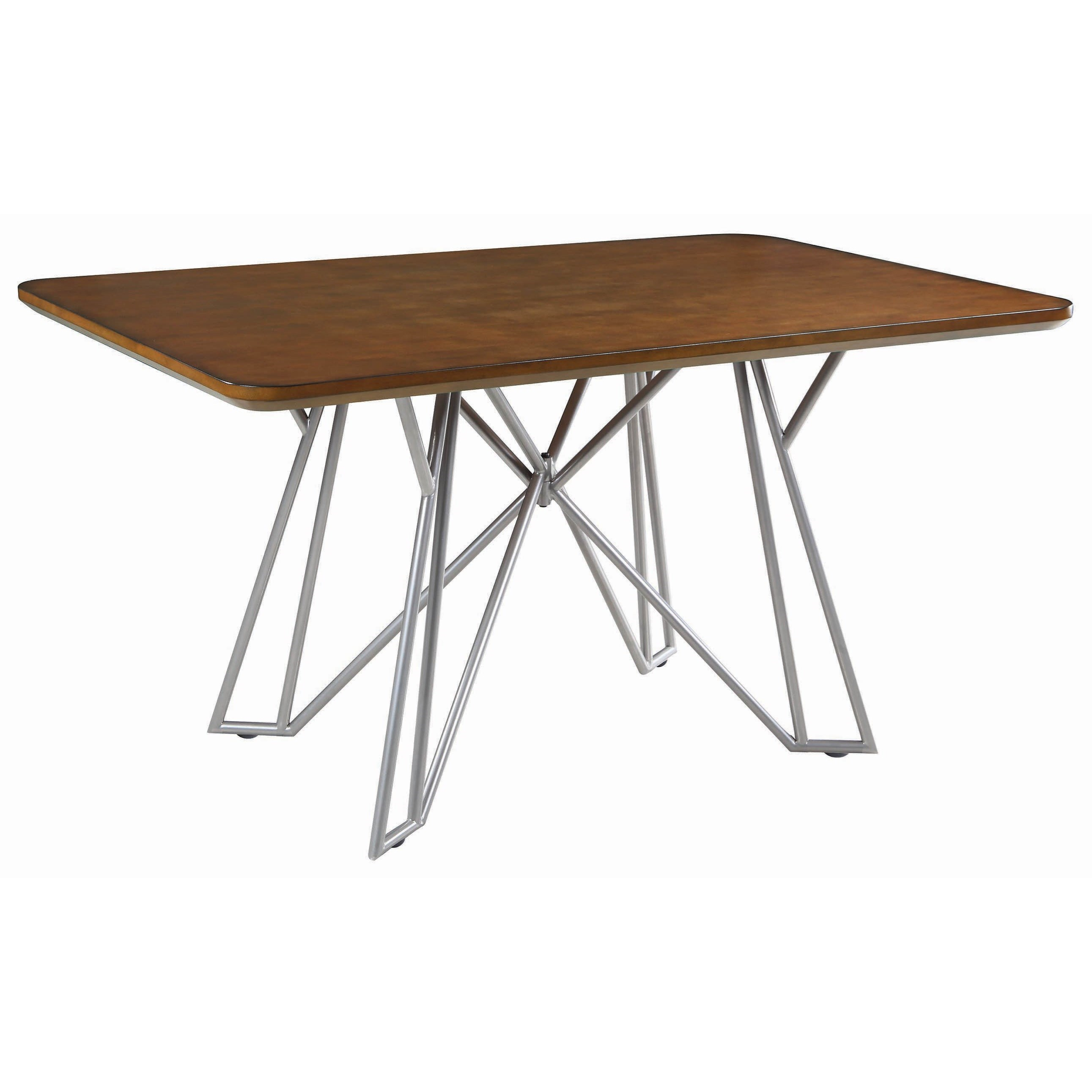 Dining Table, Brown/Sliver
