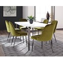 Scott Living Riverbank Dining Table Set - Item Number: 107951+6x107952