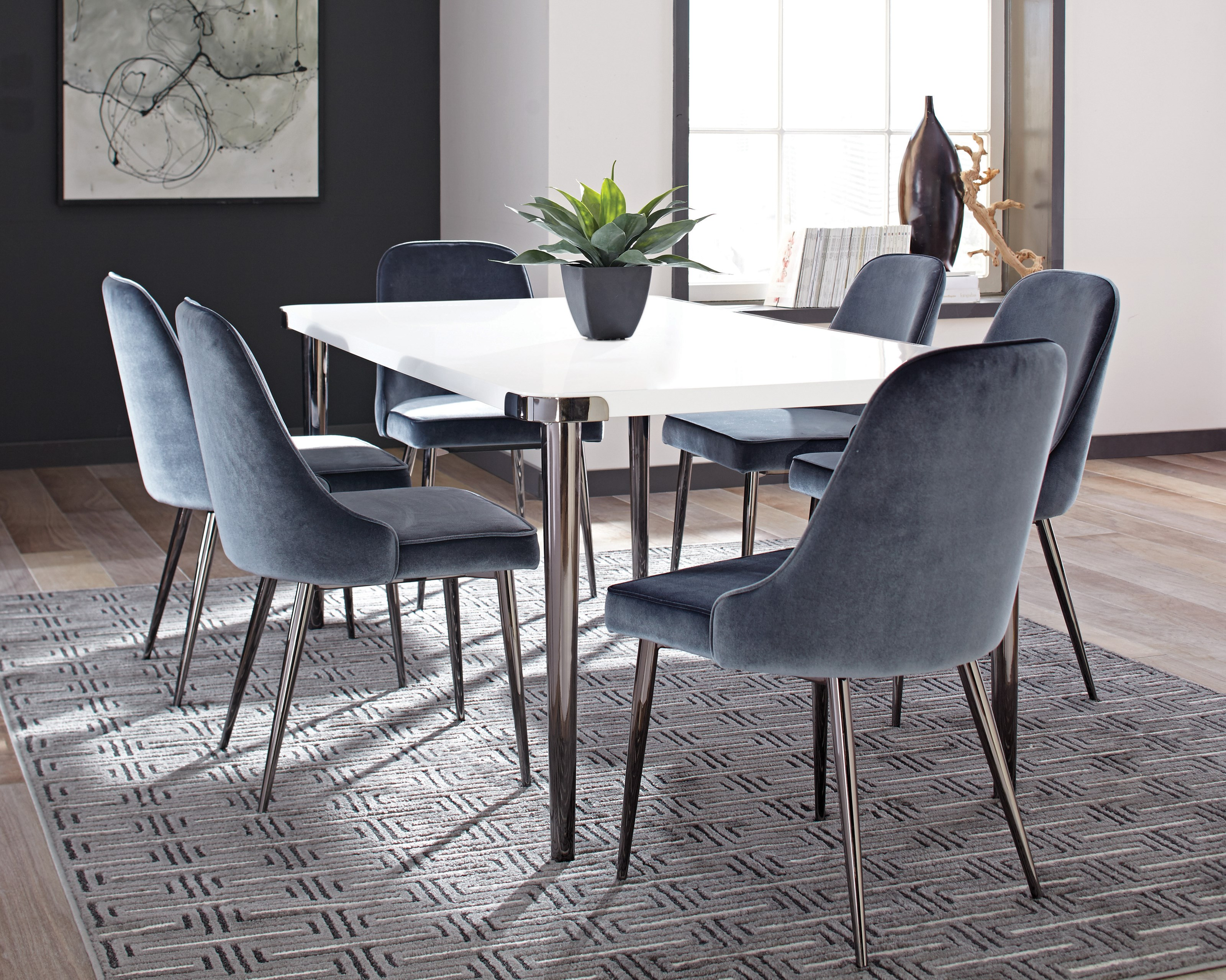 Scott Living Riverbank Contemporary Dining Room Table Set