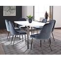 Scott Living Riverbank Dining Table Set - Item Number: 107951+6x107954
