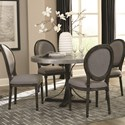Scott Living Rochelle Table and Chair Set - Item Number: 107550+4x103066