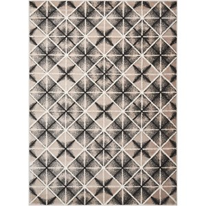 5' x 7' Charcoal and Light Grey Rug