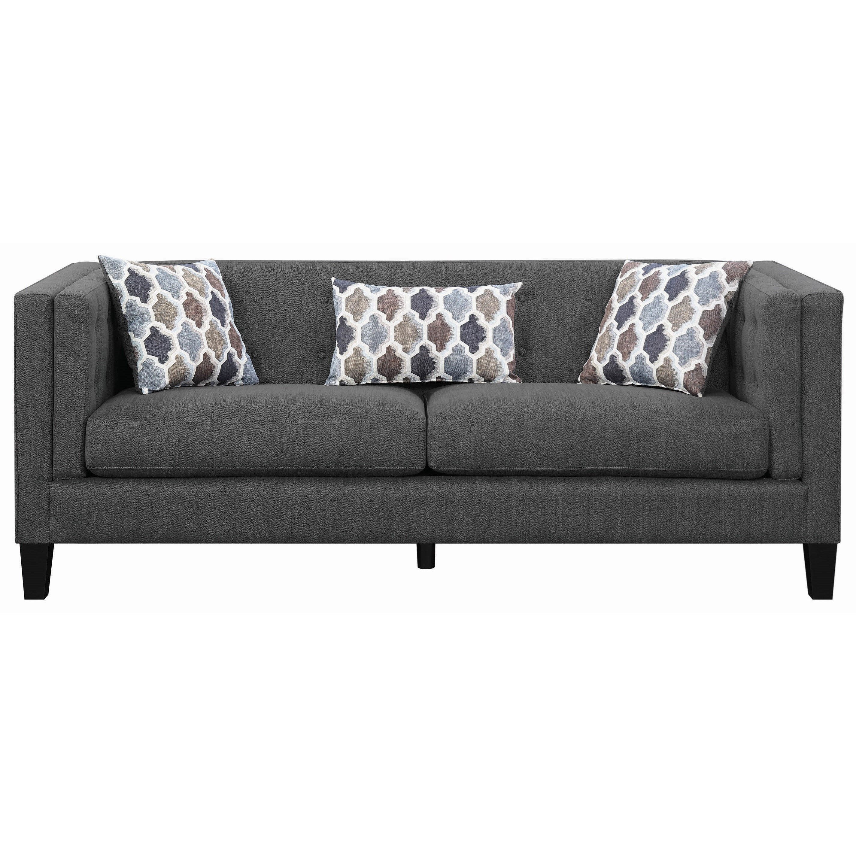 Sawyer Modern Sofa with Track Arms by Scott Living at Value City Furniture