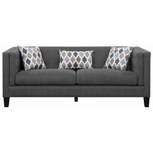 Scott Living Sawyer Modern Sofa with Track Arms | Belfort Furniture ...