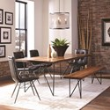 Scott Living Sutherson Table and Chair Set with Bench - Item Number: 107781+107783+4x107852