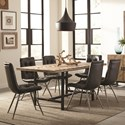 Scott Living Thompson Table and Six Chair Set - Item Number: 107561+6x107852