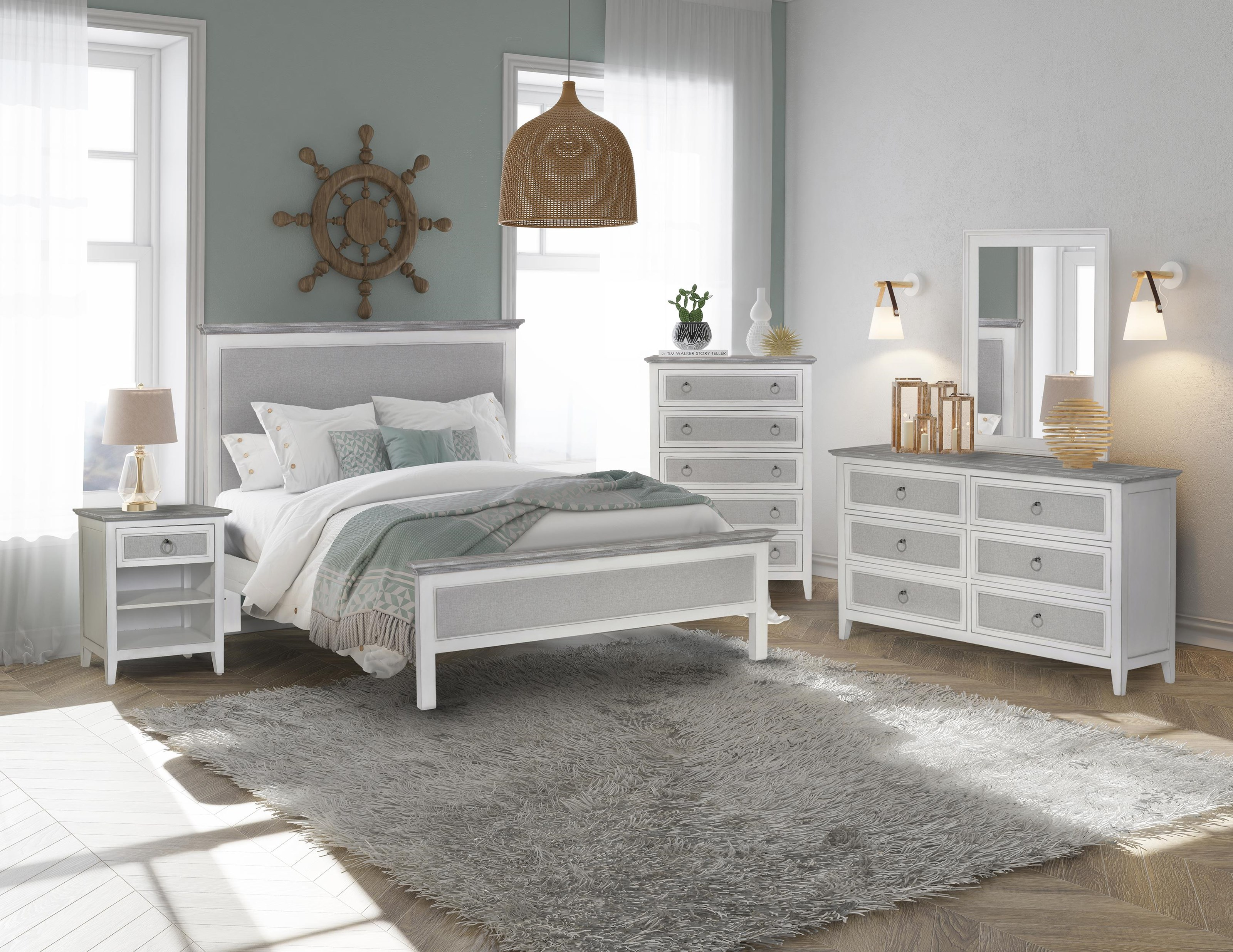 Captiva Island Queen bedroom group by Sea Winds Trading Company at Johnny Janosik