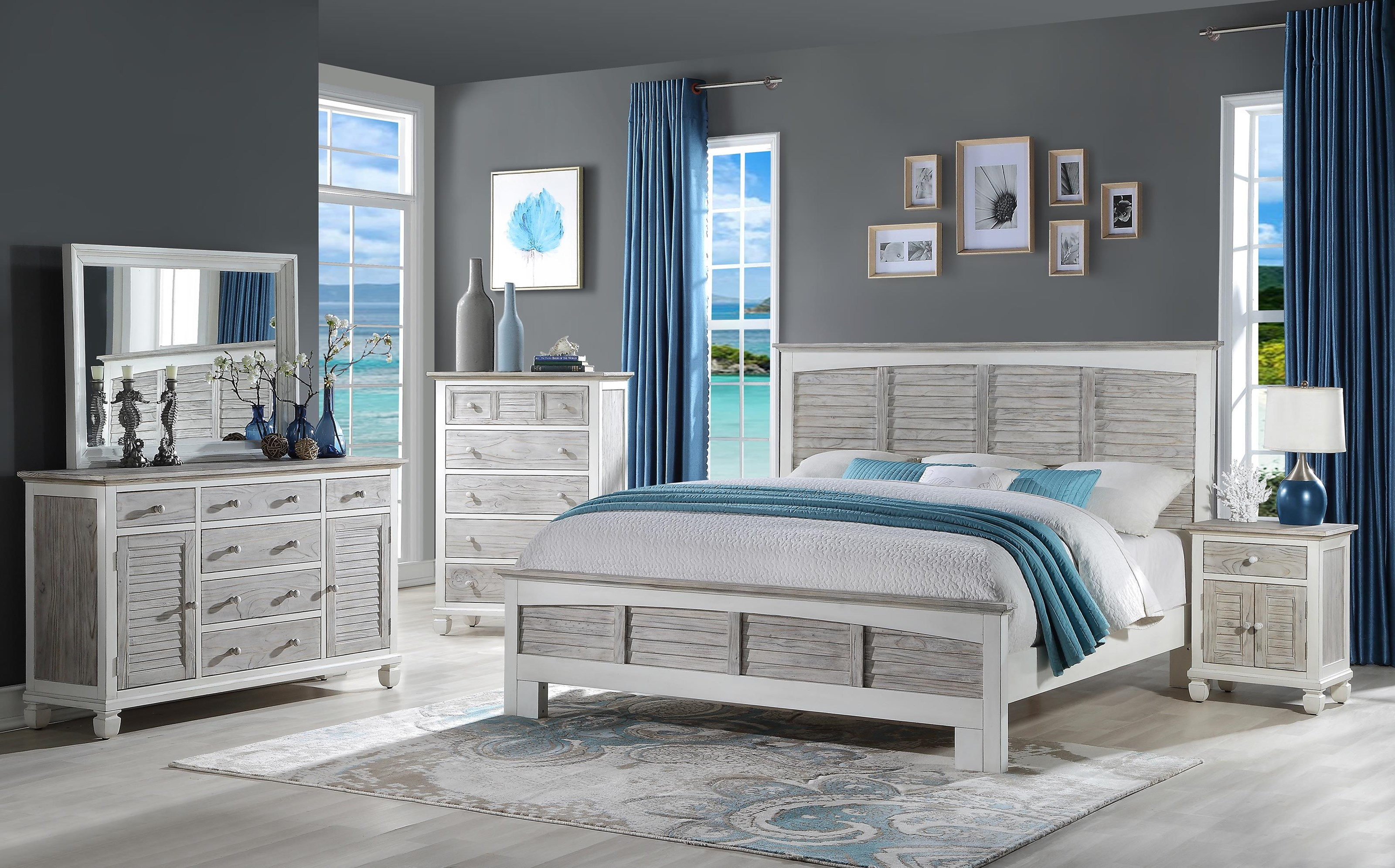 islamorada Queen bedroom group by Sea Winds Trading Company at Johnny Janosik