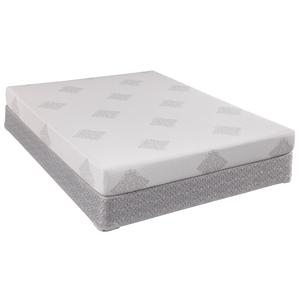 Sealy Comfort Series Boca Breeze Queen Memory Foam Mattress and Box Spring