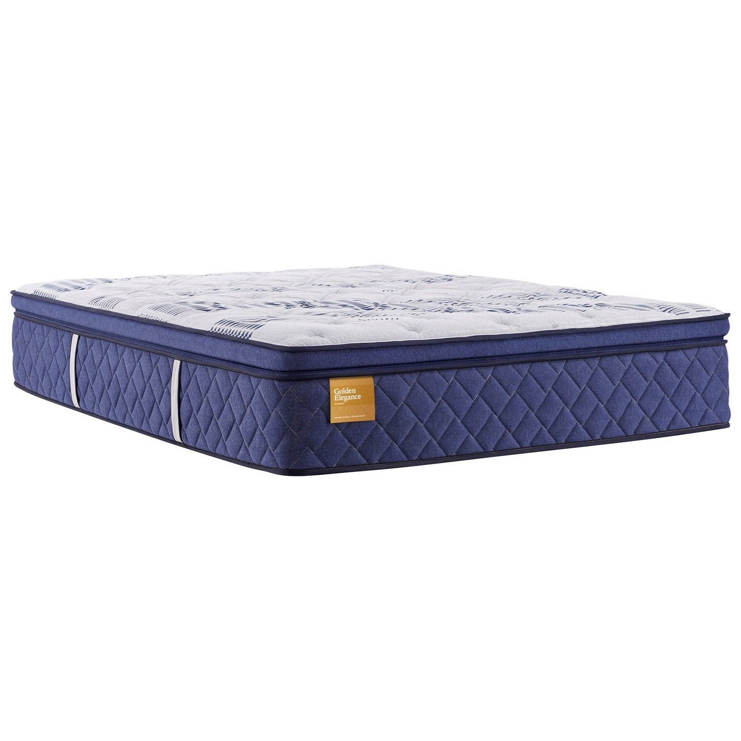 "Elegant Gold Plush PT B6 King 15"" Plush PT Mattress by Sealy at Beck's Furniture"