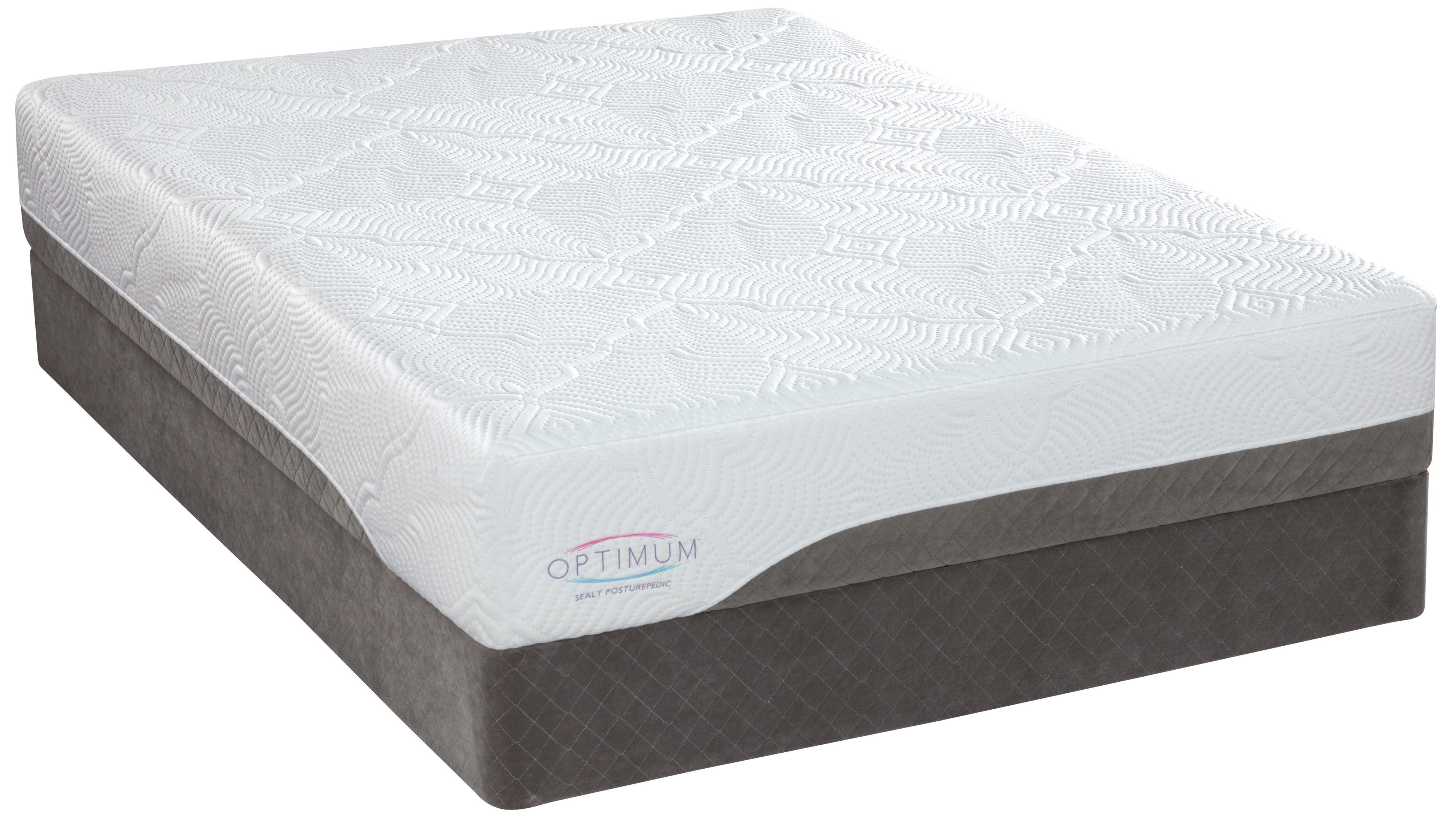 Sealy Optimum Latex Gel Meadowcrest Full Latex Mattress Set - Item Number: 508220F+617719F