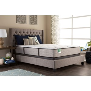 "Sealy Palatial Crest Royal Ascot CF Twin 12 1/2"" Cushion Firm Mattress Set"