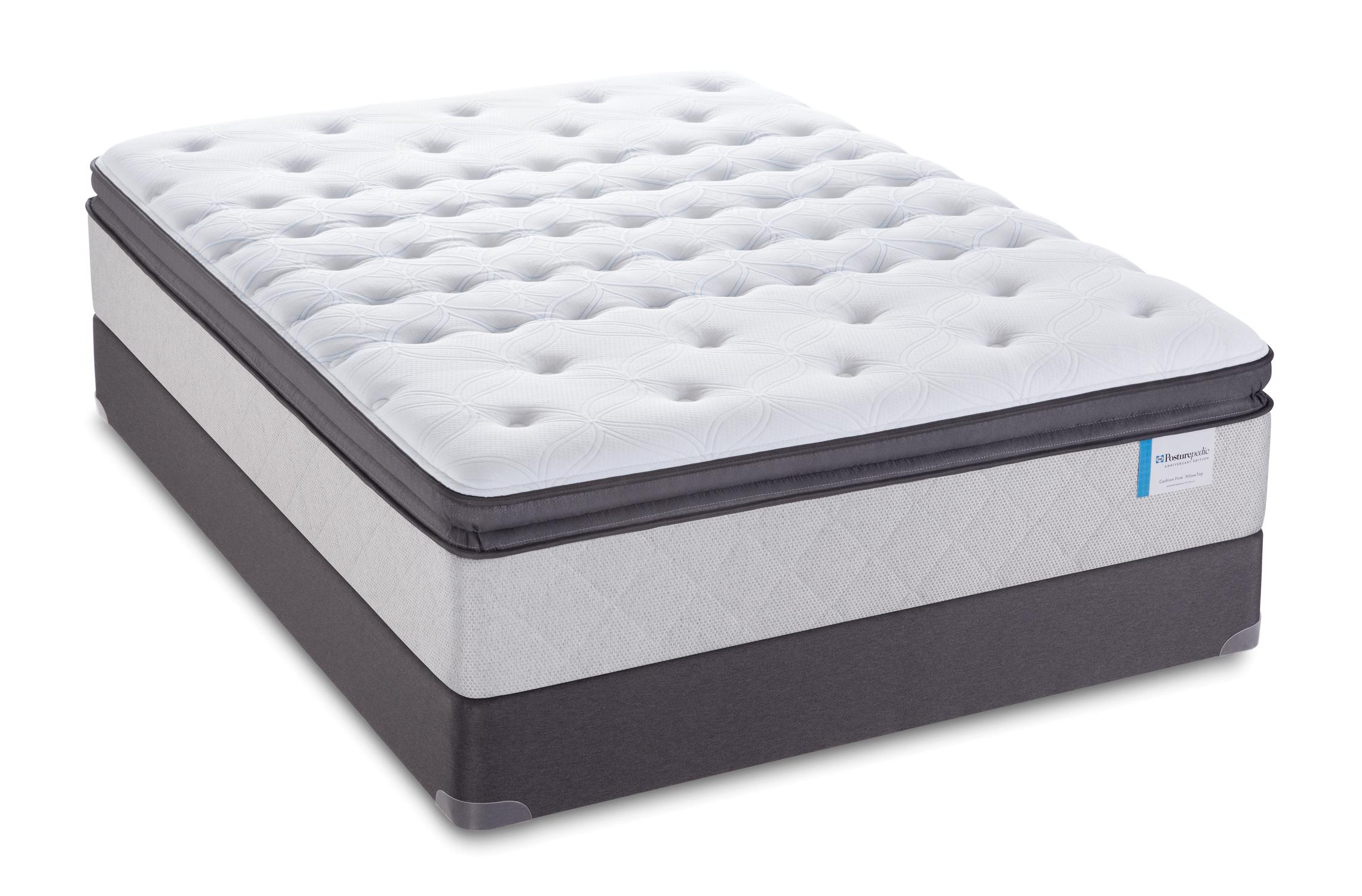 "Sealy Posturepedic 65 Year Anniversary Edition Queen 14"" Pillow Top Mattress Set, LP - Item Number: Pillowtop14-Q+SSLPFndtn-Q"