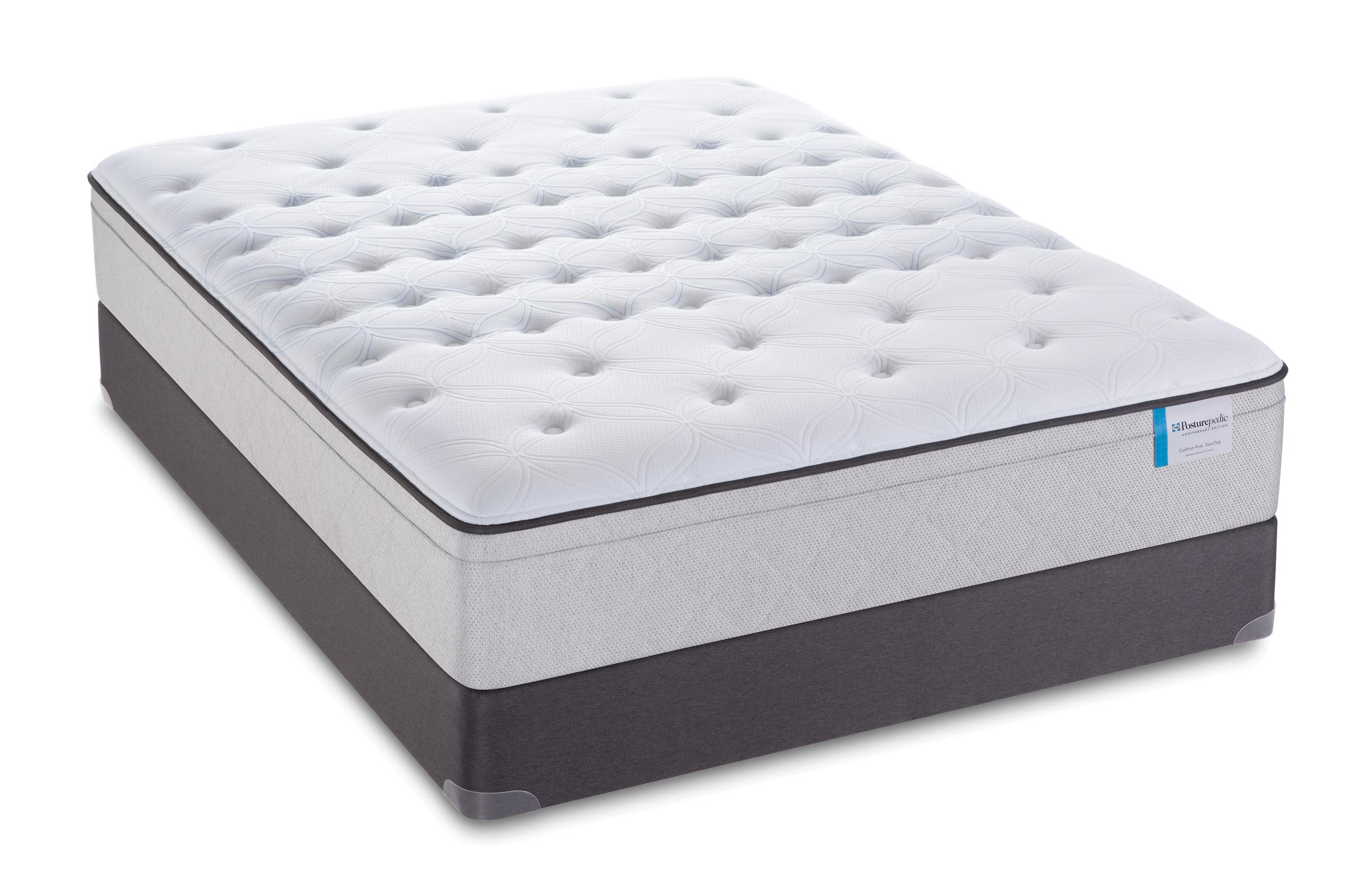 Sealy Posturepedic 65 Year Anniversary Edition Euro Pillow Top Mattress Set - Item Number: PlushEPT13-F+SSfoundation-F