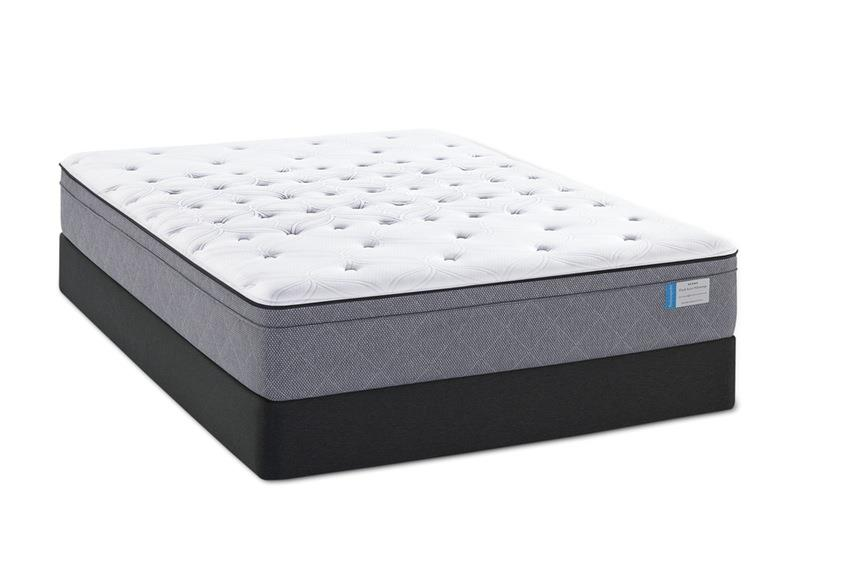 Sealy Posturepedic Delegate King CF FX Pillow Top Mattress Set, LP - Item Number: CushionfirmFXPT-K+2xSSLPFndtn-TXL