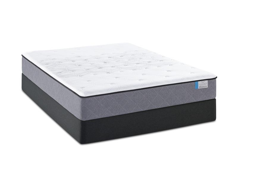 Sealy Posturepedic Beale Street Twin Plush Mattress Set - Item Number: PlushTT-T+SSfoundation-T