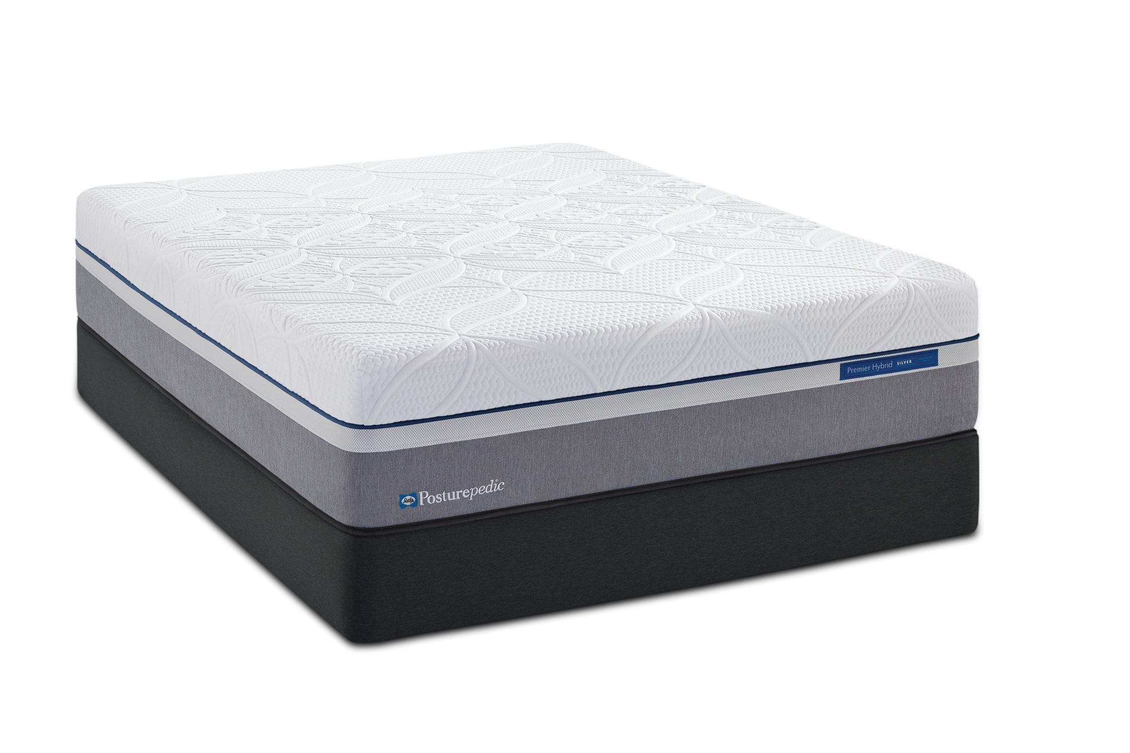 Sealy Silver Plush Full Plush Hybrid Mattress Set - Item Number: PlushHybrid-F+SSfoundation-F