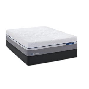 Sealy Silver Plush Queen Plush Hybrid Mattress Adj Set