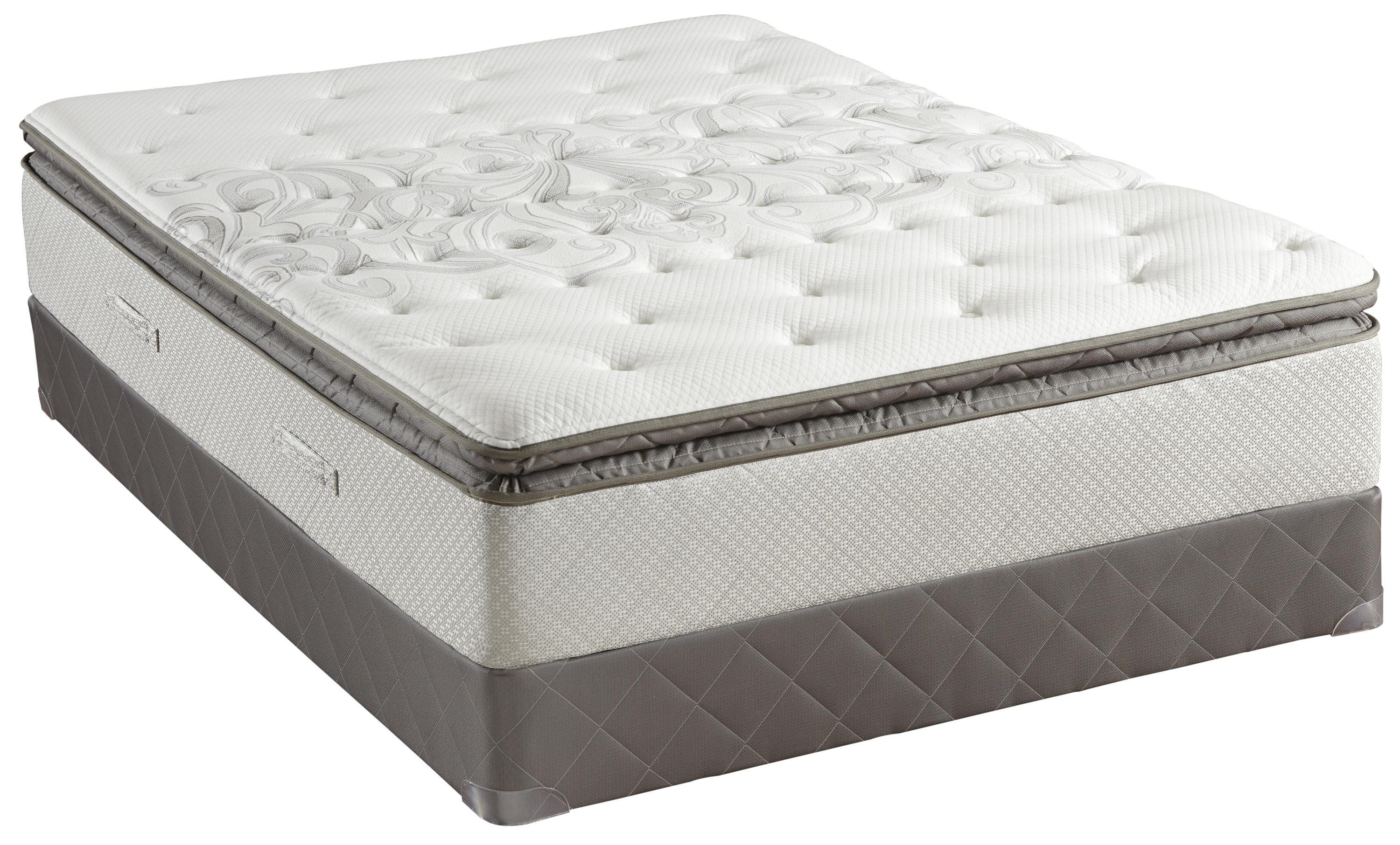 Sealy Posturepedic Gel Oak Knoll Queen Cushion Firm Euro Pillow Top Mattress Prime Brothers