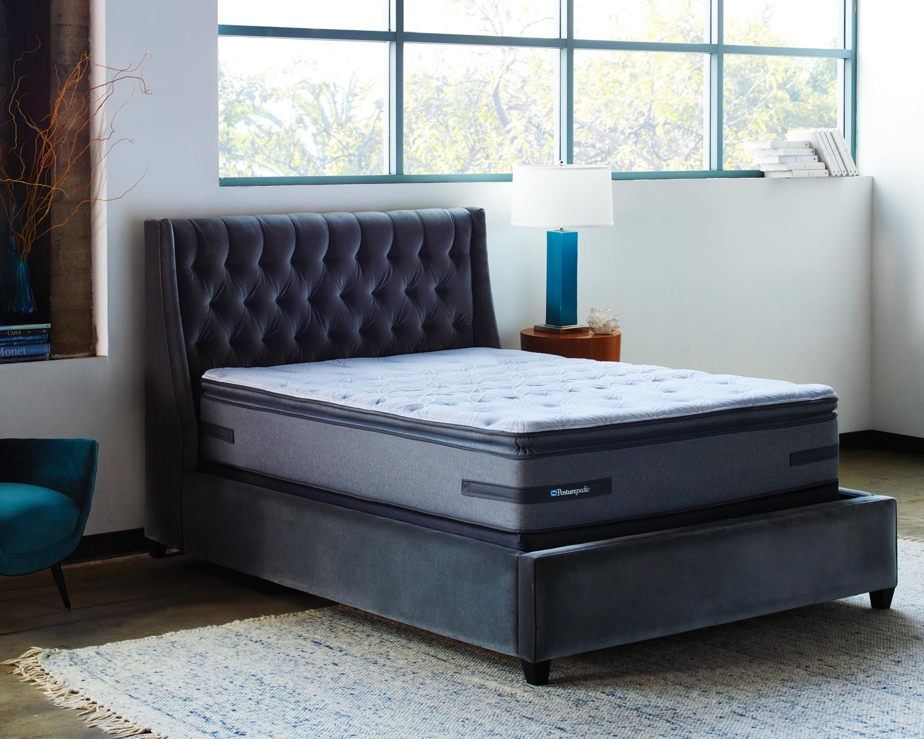Sealy Posturpedic Ariel Sands Full CF EPT Mattress Set - Item Number: CushionFirmEPT-F+SSfoundation-F