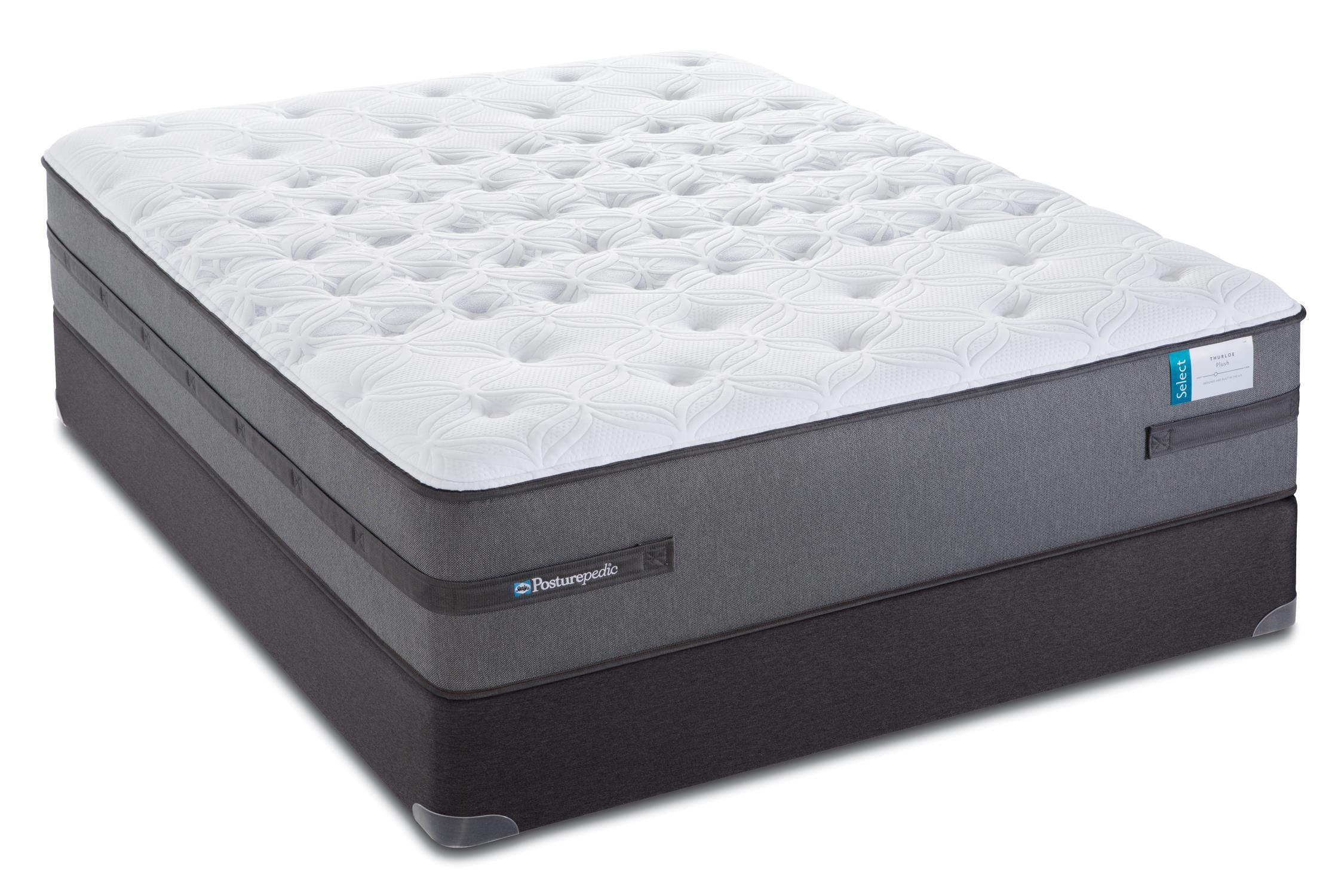 Sealy Posturepedic Select Q4 Queen Cushion Firm Mattress Set - Item Number: CushionFirmTT-Q+SSfoundation-Q