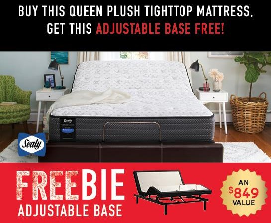 Hidden Lake Queen Mattress with FREEBIE! by Sealy at Morris Home