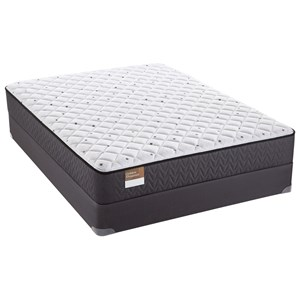 "Sealy S2 Firm Queen 10"" Firm Mattress Low Profile Set"