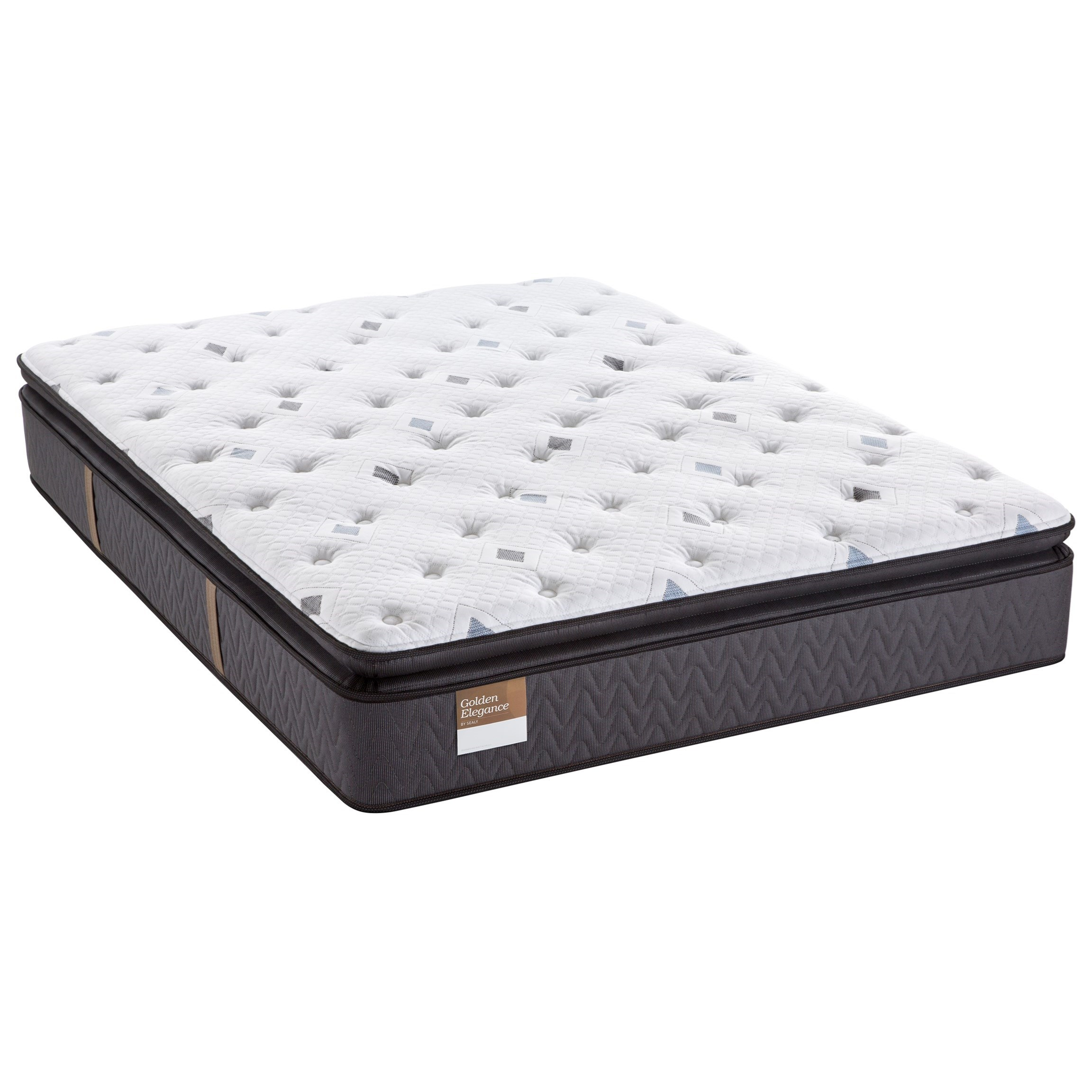 "Sealy Golden Elegance Gilded Breath Queen 14"" Plush Pillow Top Mattress -  Item Number:"