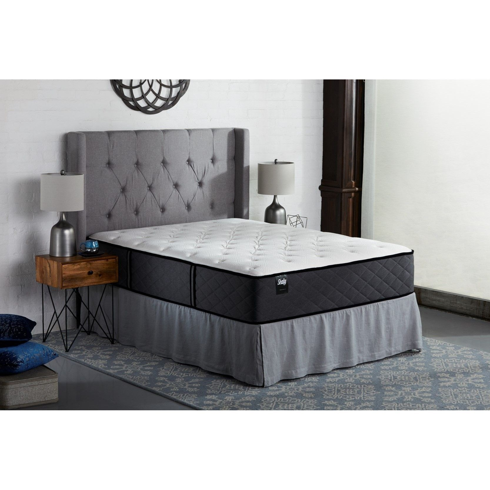 "S5 Firm TT Queen 14 1/2"" Firm Mattress Set by Sealy at Darvin Furniture"