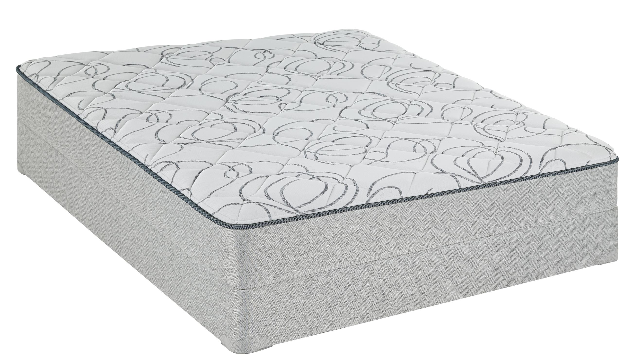 Sealy Ironbridge Twin Plush Mattress Low Profile Set - Item Number: PlushTT-T+SBLPbox-T