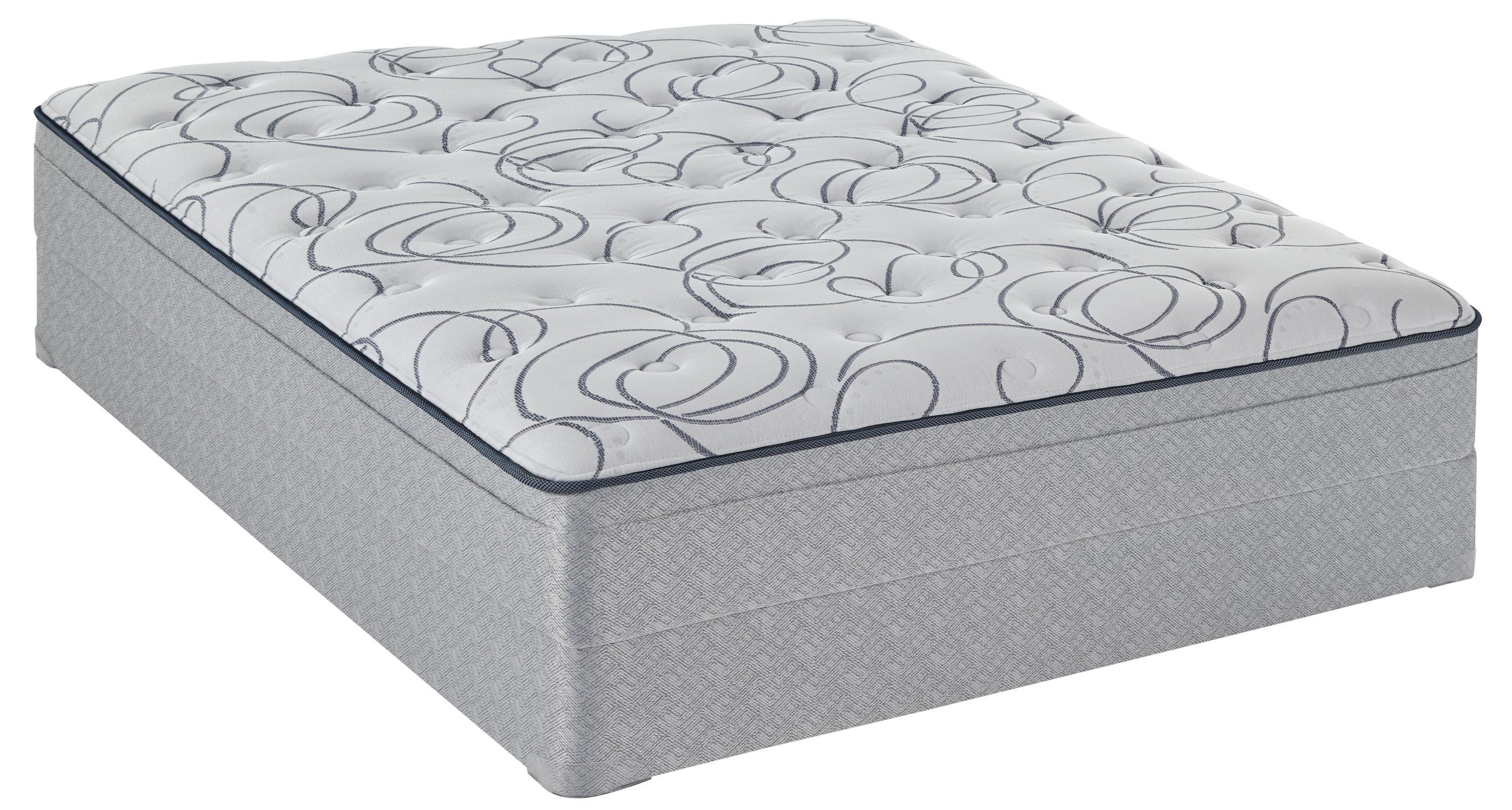 Sealy Sealy Watsonia Queen Plush ET Mattress Set - Item Number: PlushET-Q+FoundationQ