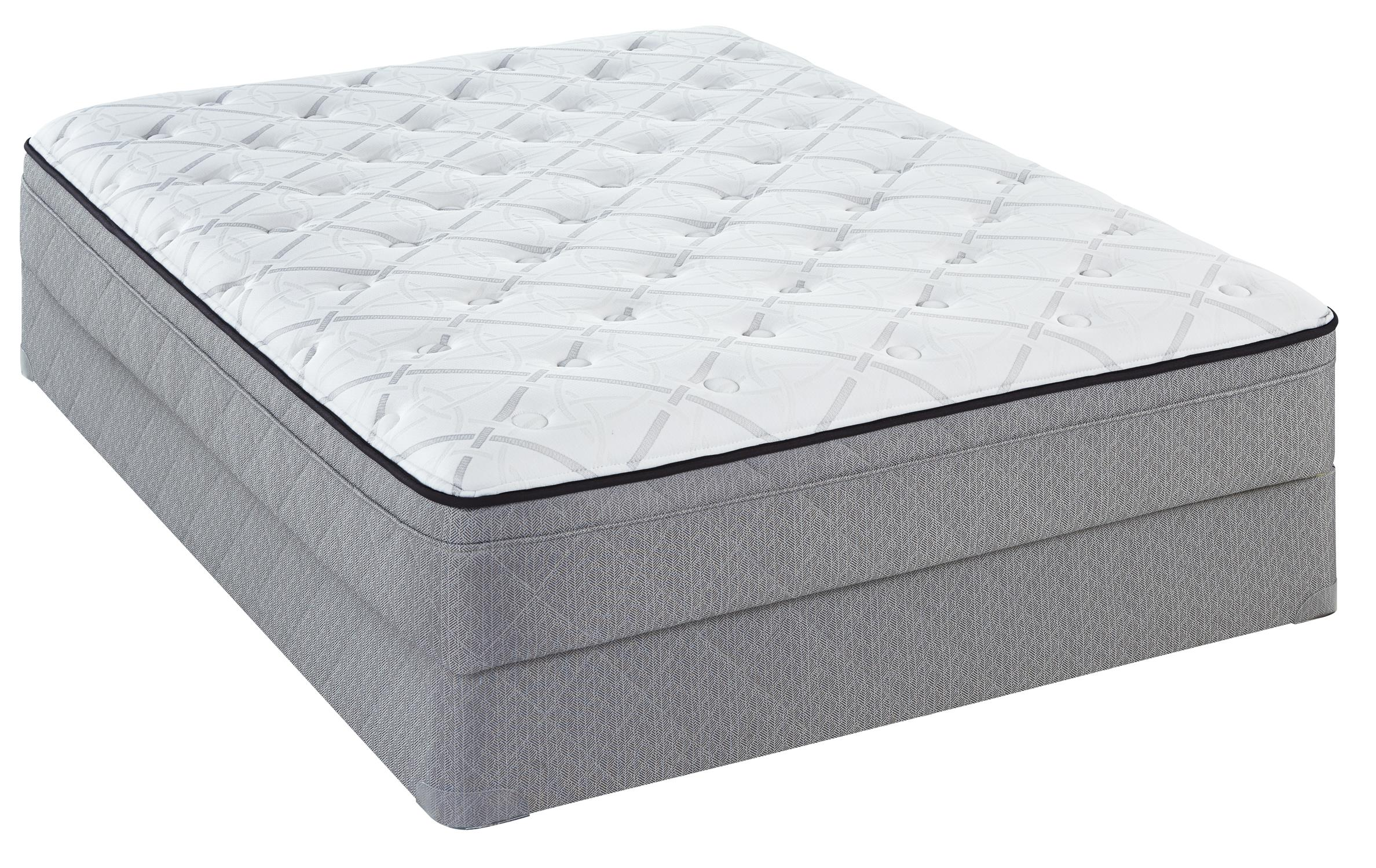 Sealy Sealy Brand Level 3 Full Plush ET Mattress Set - Item Number: PlushETBG-F+FoundationF