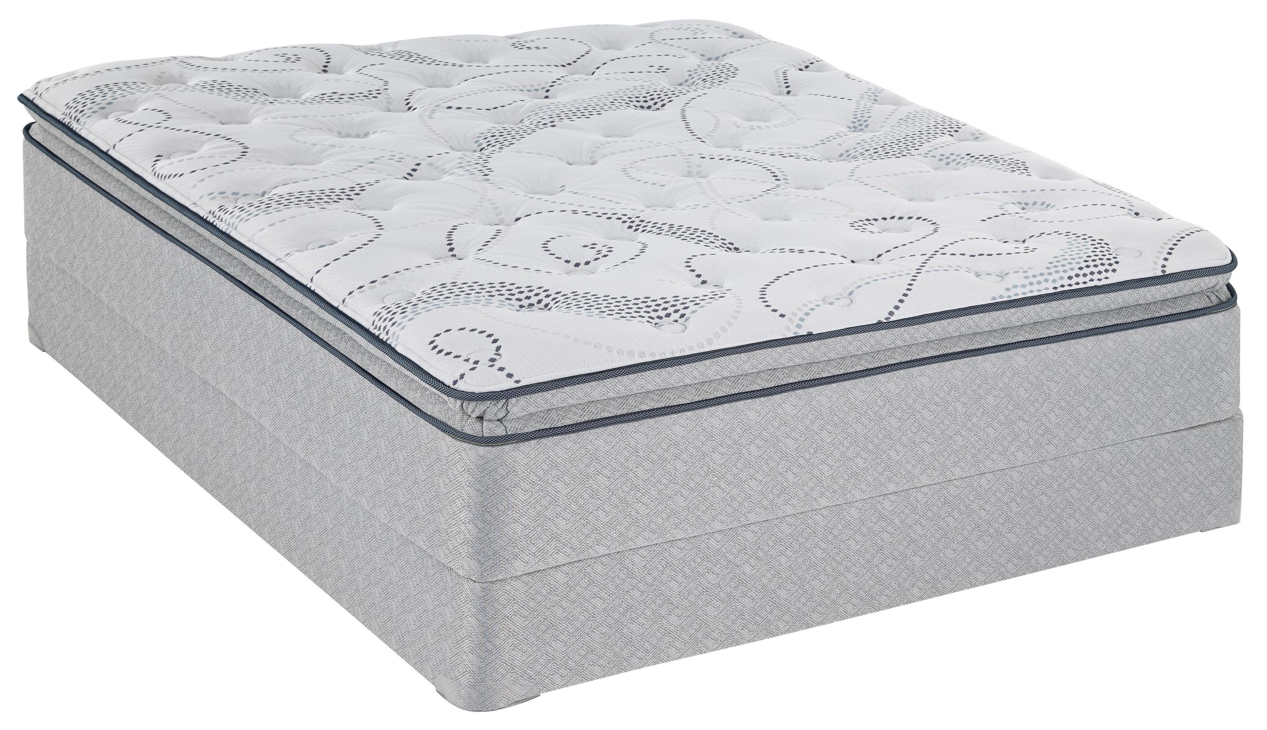 Sealy Sealy Safflower  Queen Plush EPT Mattress Set - Item Number: PlushEPT-Q-FoundationQ