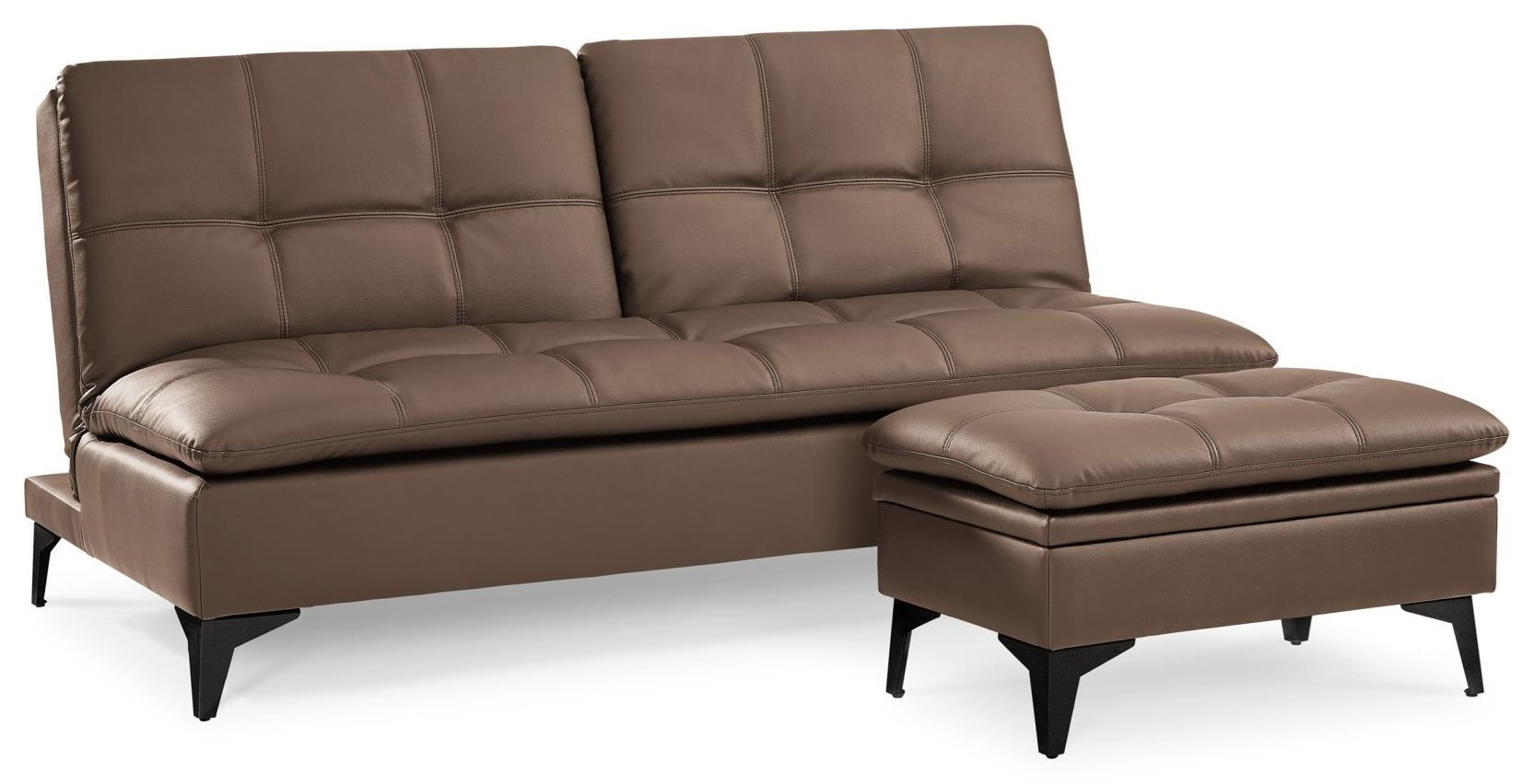 Sedona Sofa Convertible with Storage Ottoman by Sealy Sofa Convertibles at Red Knot