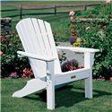 Seaside Casual Adirondack Shellback Chair - Item Number: 02018