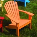 Seaside Casual Adirondack Shellback Chair - Item Number: 17018