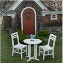 Seaside Casual Westport Bistro Round Outdoor Dining Table - Shown in Outdoor Setting with Side Chairs