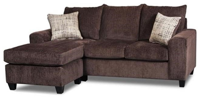 Seminole Furniture 235 Ultimate Chocolate Sofa Chaise with Ottoman - Item Number: 237-04 ULTCHO