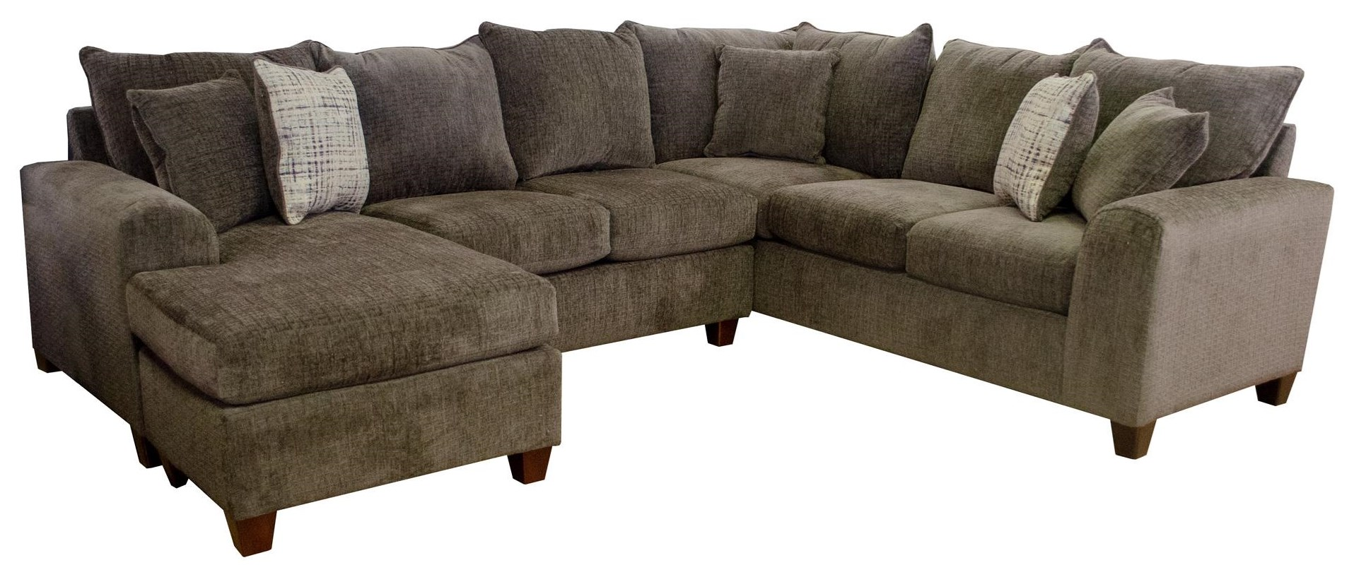 Seminole Furniture 237 Ultimate Chocolate Sectional Sofa - Item Number: GRP-237-PUTTY-SECTIONAL