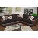 Seminole Furniture 3775 2 Pc. Sectional - Item Number: 3775-42+32-PortofinoChocPadreMocha