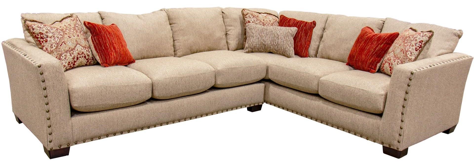 2 Piece Sectional Sofa with Nailhead Trim