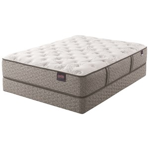 Serta AM Wynnfield Plush Cal King Plush Pocketed Coil Mattress Set