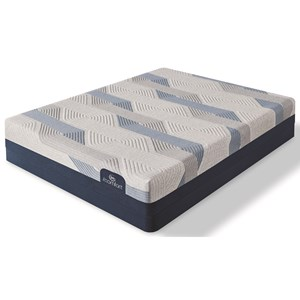 Serta Blue Queen Plush Set