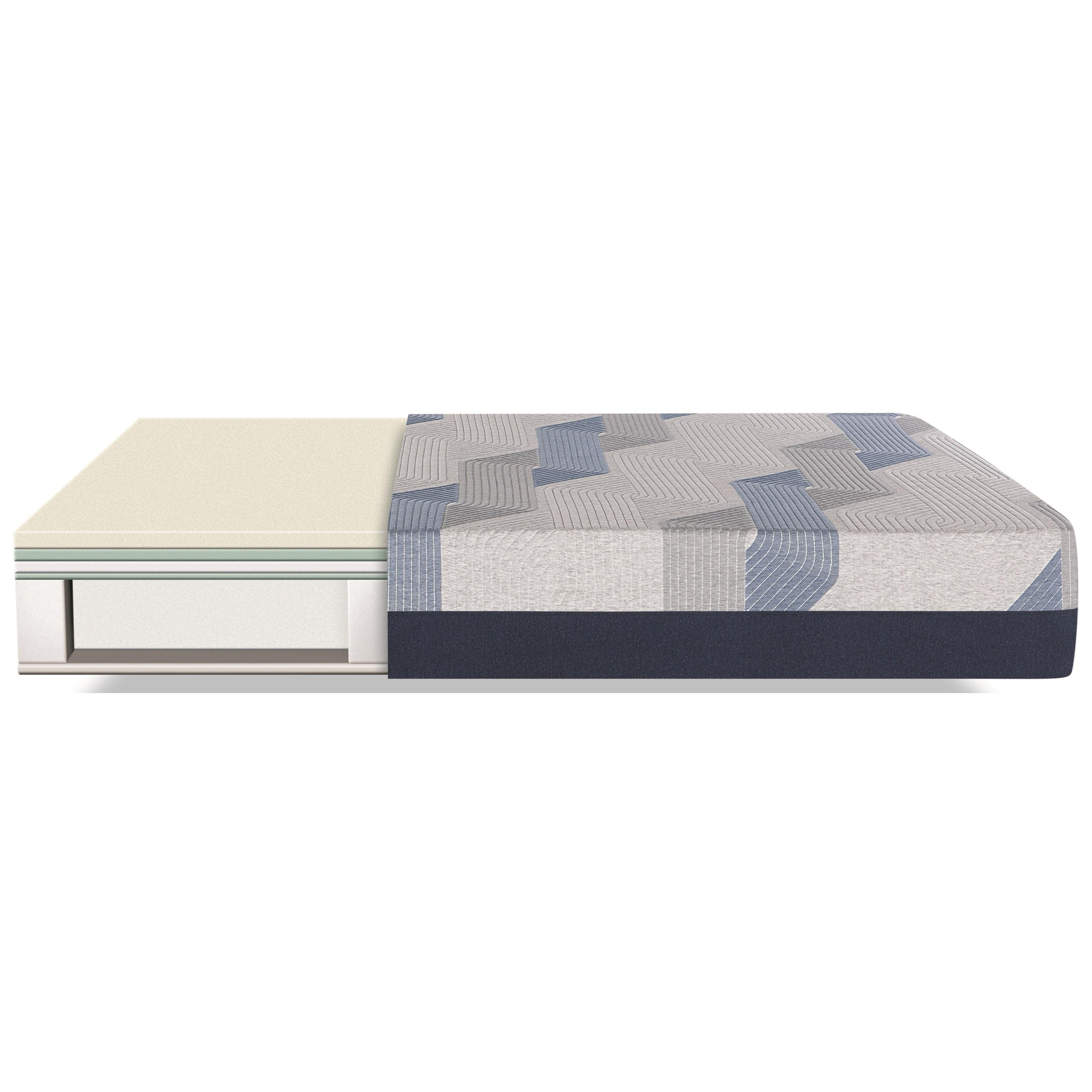 Serta Blue 300ct Firm 2019 King Firm Memory Foam Mattress