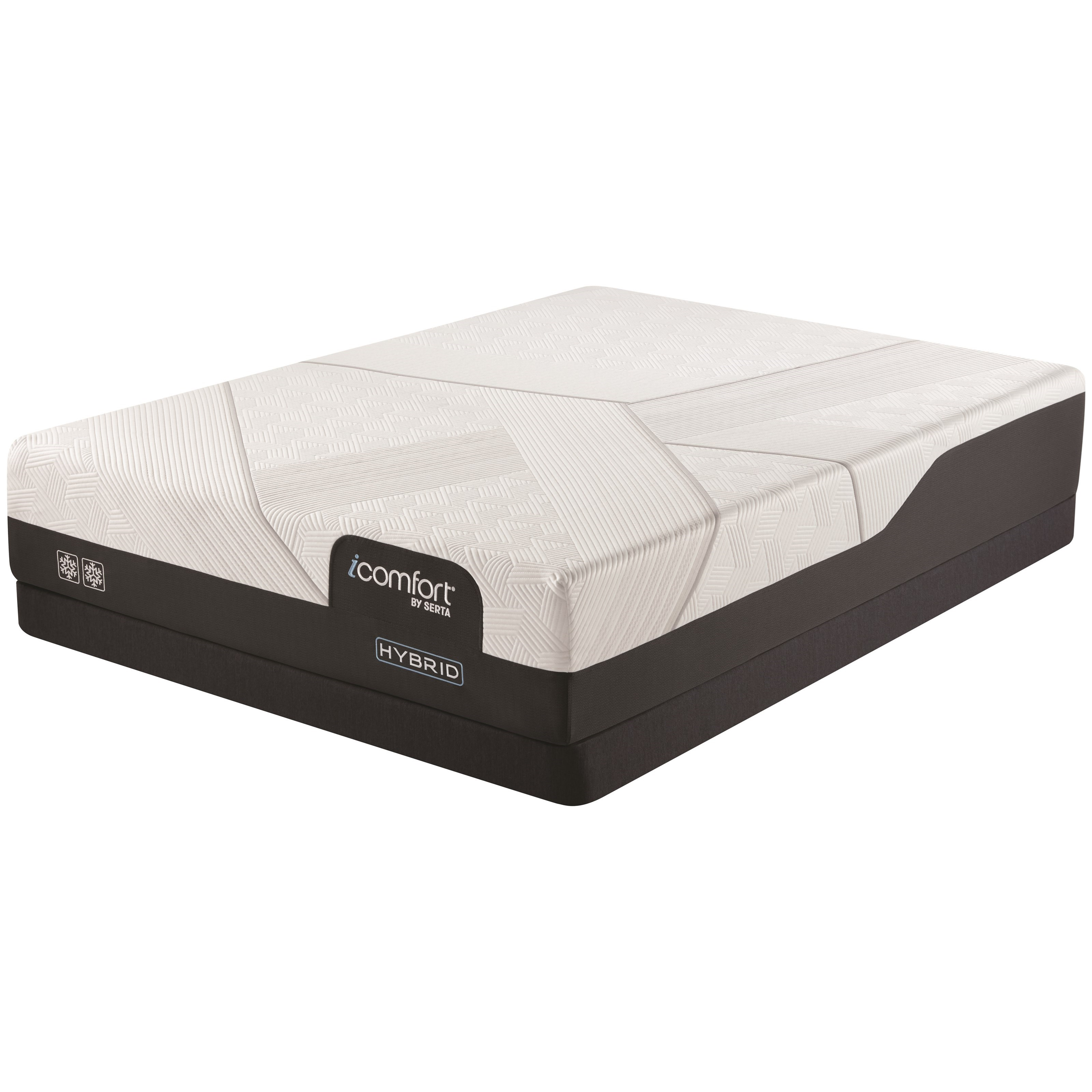 "CF2000 Hybrid Firm Twin XL 12 1/2"" Firm Hybrid LP Set by Serta at Walker's Mattress"