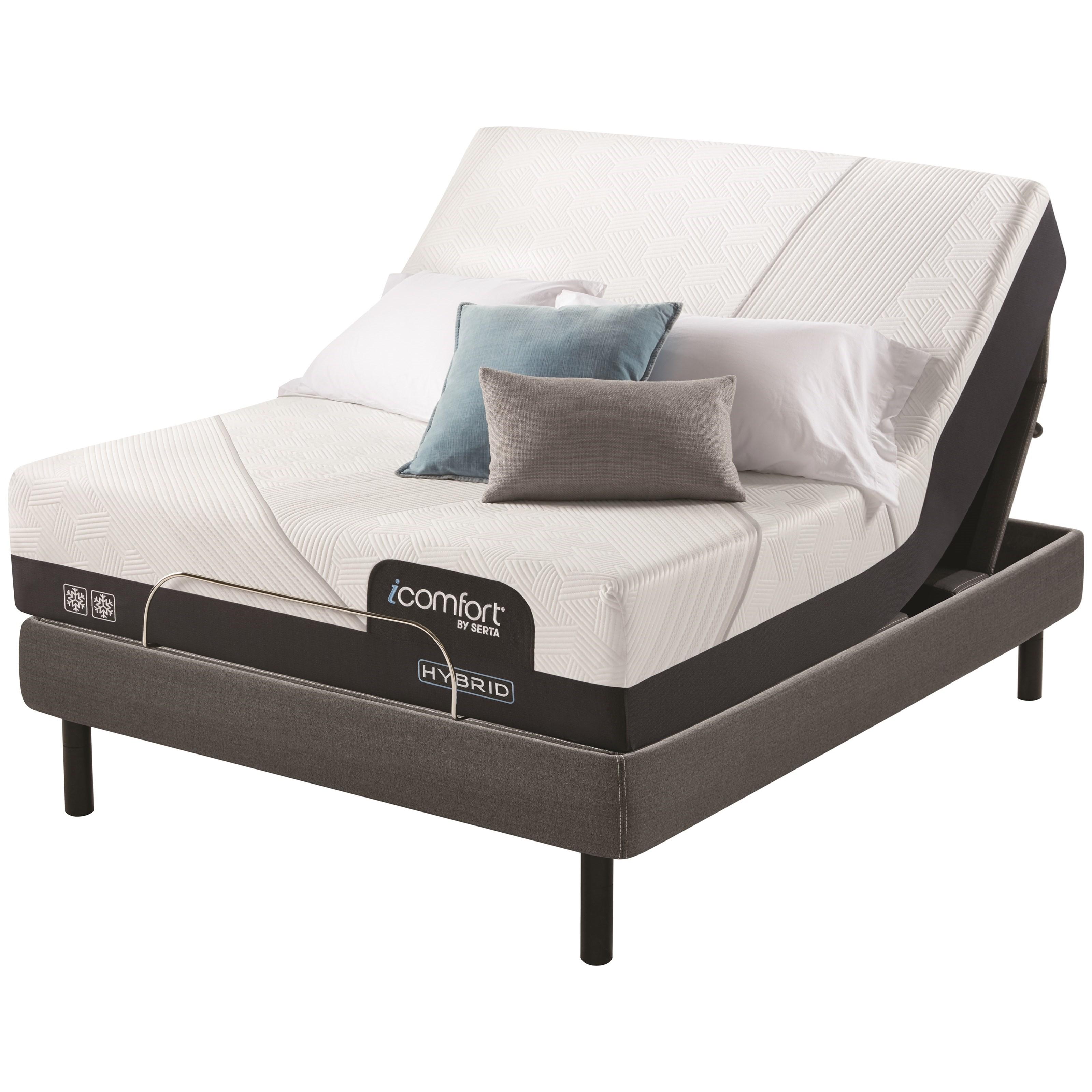 "CF2000 Hybrid Firm Queen 12 1/2"" Firm Hybrid Adj Set by Serta at Miller Waldrop Furniture and Decor"