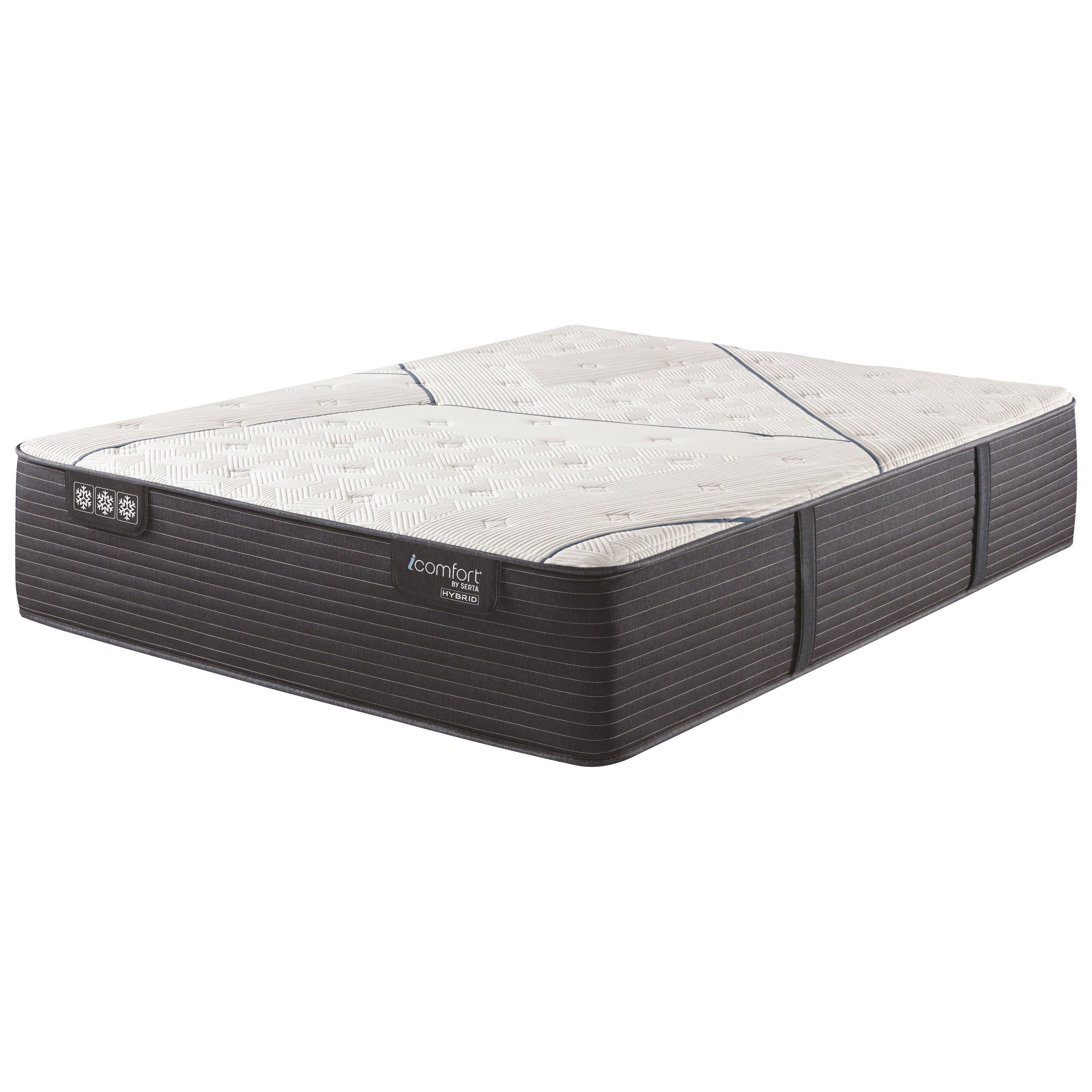 "CF3000 Quilted Hybrid II Medium Queen 14 1/4"" Hybrid Medium Mattress by Serta at Ultimate Mattress"