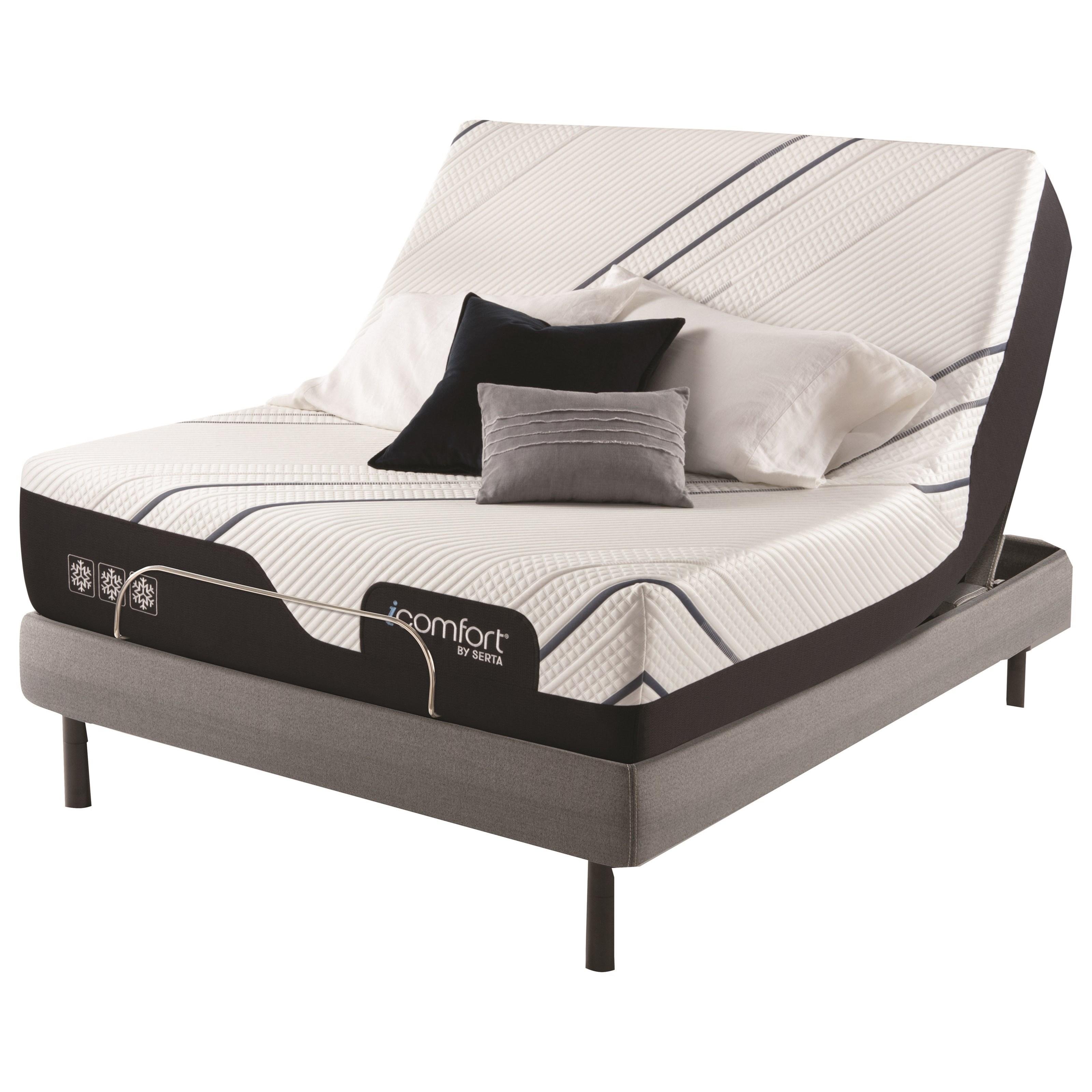 "CF4000 Ultra Plush Queen 13 1/2"" Ultra Plush Adj Set by Serta at Miller Waldrop Furniture and Decor"